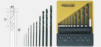 Proxxon 28874 HSS twist drill in storage case 0,3-3,2mm 10-piece set